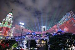 τρισδιάστατος ελαφρύς παρουσιάζει στην ανοικτή πλατεία tst Στοκ Φωτογραφία