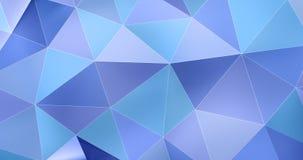 τρισδιάστατος ζωηρόχρωμος μπλε αφηρημένος γεωμετρικός βρόχος υποβάθρου κινήσεων επιφάνειας πολυγώνων 4k απεικόνιση αποθεμάτων