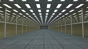 τρισδιάστατος διάδρομος φουτουριστικός Στοκ Φωτογραφίες
