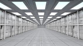τρισδιάστατος διάδρομος φουτουριστικός Στοκ εικόνα με δικαίωμα ελεύθερης χρήσης