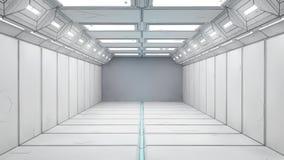 τρισδιάστατος διάδρομος φουτουριστικός Στοκ φωτογραφία με δικαίωμα ελεύθερης χρήσης