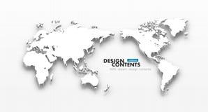 τρισδιάστατος διανυσματικός παγκόσμιος χάρτης Στοκ φωτογραφίες με δικαίωμα ελεύθερης χρήσης