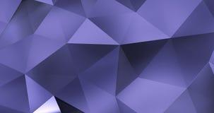 τρισδιάστατος ιώδης αφηρημένος γεωμετρικός βρόχος υποβάθρου κινήσεων επιφάνειας πολυγώνων 4k απεικόνιση αποθεμάτων