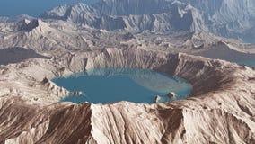 τρισδιάστατος κρατήρας στον πλανήτη απεικόνιση αποθεμάτων