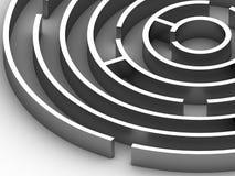 τρισδιάστατος κυκλικός λαβύρινθος χάλυβα διανυσματική απεικόνιση