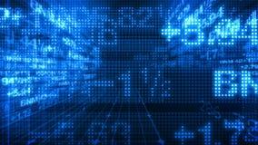 Τρισδιάστατος κόσμος τηλετύπων στοιχείων χρηματιστηρίου απόθεμα βίντεο