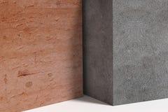 Τρισδιάστατος κύβος φιαγμένος από διαφορετικό υλικό Στοκ Εικόνες