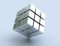 τρισδιάστατος κύβος Στοκ Εικόνα