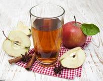 τρισδιάστατος μήλων φυσικός διαφανής χυμού εικόνας γυαλιού τροφίμων πτώσης μήλων εννοιολογικός Στοκ εικόνα με δικαίωμα ελεύθερης χρήσης