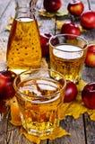 τρισδιάστατος μήλων φυσικός διαφανής χυμού εικόνας γυαλιού τροφίμων πτώσης μήλων εννοιολογικός Στοκ φωτογραφίες με δικαίωμα ελεύθερης χρήσης