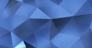 τρισδιάστατος μπλε αφηρημένος γεωμετρικός βρόχος υποβάθρου κινήσεων επιφάνειας πολυγώνων 4k ελεύθερη απεικόνιση δικαιώματος