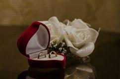 τρισδιάστατος παραγμένος γάμος δαχτυλιδιών εικόνας Στοκ φωτογραφίες με δικαίωμα ελεύθερης χρήσης