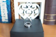 τρισδιάστατος παραγμένος γάμος δαχτυλιδιών εικόνας Στοκ εικόνες με δικαίωμα ελεύθερης χρήσης