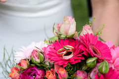 τρισδιάστατος παραγμένος γάμος δαχτυλιδιών εικόνας Στοκ φωτογραφία με δικαίωμα ελεύθερης χρήσης