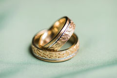 τρισδιάστατος παραγμένος γάμος δαχτυλιδιών εικόνας Στοκ Εικόνες