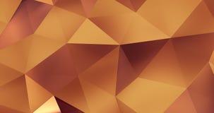 τρισδιάστατος πορτοκαλής αφηρημένος γεωμετρικός βρόχος υποβάθρου κινήσεων επιφάνειας πολυγώνων 4k απεικόνιση αποθεμάτων