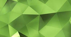 τρισδιάστατος πράσινος αφηρημένος γεωμετρικός βρόχος υποβάθρου κινήσεων επιφάνειας πολυγώνων 4k διανυσματική απεικόνιση