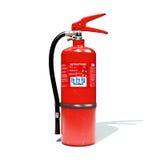 τρισδιάστατος πυροσβεστήρων που διευκρινίζεται Στοκ Εικόνες