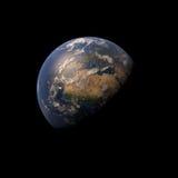 τρισδιάστατος πλανήτης Γη στο διαστημικό υπόβαθρο Στοκ Φωτογραφίες