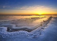 τρισδιάστατος πλανήτης τοπίων πάγου που δίνει τις άγρια περιοχές αύξησης Στοκ Εικόνα