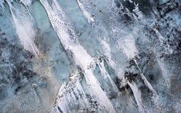 τρισδιάστατος πλανήτης τοπίων πάγου που δίνει τις άγρια περιοχές αύξησης Στοκ Εικόνες