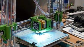 Τρισδιάστατος πλαστικός τρισδιάστατος εκτυπωτής Στοκ εικόνες με δικαίωμα ελεύθερης χρήσης