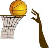 τρισδιάστατος ρεαλιστικός απεικόνισης καλαθοσφαίρισης ανασκόπησης που δίνεται Στοκ εικόνα με δικαίωμα ελεύθερης χρήσης