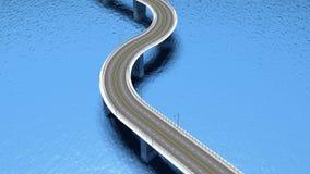 τρισδιάστατος δρόμος εθνικών οδών Στοκ Φωτογραφίες