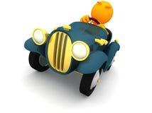 τρισδιάστατος τύπος: Άτομο έτοιμο στην οδική οργή διανυσματική απεικόνιση