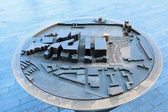 τρισδιάστατος χάρτης Λονδίνο Στοκ εικόνες με δικαίωμα ελεύθερης χρήσης