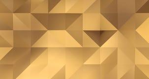 τρισδιάστατος χρυσός βρόχος υποβάθρου κινήσεων επιφάνειας πολυγώνων σχεδίων αφηρημένος γεωμετρικός 4k απεικόνιση αποθεμάτων