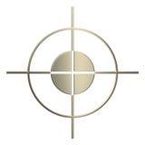 τρισδιάστατος χρυσός ελεύθερος σκοπευτής Στοκ Εικόνες