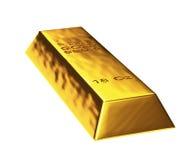 τρισδιάστατος χρυσός φραγμός Στοκ Εικόνα