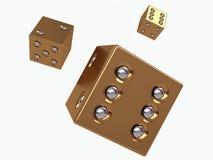 τρισδιάστατος χρυσός χωρίζει σε τετράγωνα Στοκ φωτογραφία με δικαίωμα ελεύθερης χρήσης