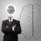 τρισδιάστατος ως σημάδι εικονοκυττάρου έννοιας εγκεφάλου Στοκ Φωτογραφία