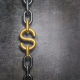 Δολάριο συνδέσεων αλυσίδων Στοκ εικόνα με δικαίωμα ελεύθερης χρήσης