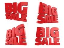 τρισδιάστατος δώστε της μεγάλης πώλησης Word στοκ εικόνες