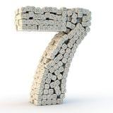 τρισδιάστατος δώστε τον αριθμό επτά Στοκ φωτογραφία με δικαίωμα ελεύθερης χρήσης
