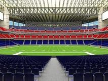 τρισδιάστατος δώστε του σύγχρονου έξοχου κύπελλου αμερικανικού ποδοσφαίρου το παρόμοιο στάδιο - τρισδιάστατο δώστε στοκ εικόνα