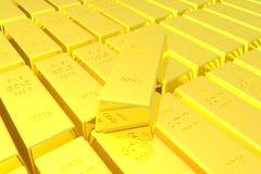 τρισδιάστατος δώστε του χρυσού υποβάθρου φραγμών Στοκ Εικόνες