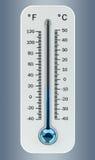 τρισδιάστατος δώστε το κρύο άσπρο θερμόμετρο που δείχνει τη χαμηλή θερμοκρασία Στοκ φωτογραφίες με δικαίωμα ελεύθερης χρήσης