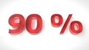 τρισδιάστατος δώστε το κόκκινο κείμενο 90 τοις εκατό μακριά Στοκ Φωτογραφία
