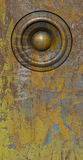 τρισδιάστατος δώστε grunge το κίτρινο παλαιό ηχητικό σύστημα ομιλητών Στοκ εικόνες με δικαίωμα ελεύθερης χρήσης
