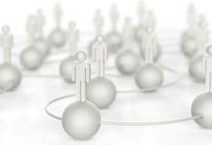 τρισδιάστατο άσπρο ανθρώπινο κοινωνικό δίκτυο Στοκ φωτογραφία με δικαίωμα ελεύθερης χρήσης