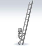 τρισδιάστατο άτομο με σκαλοπάτια Στοκ φωτογραφία με δικαίωμα ελεύθερης χρήσης