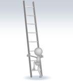 τρισδιάστατο άτομο με σκαλοπάτια Στοκ εικόνα με δικαίωμα ελεύθερης χρήσης