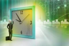 τρισδιάστατο άτομο που προσέχει το ρολόι Στοκ φωτογραφία με δικαίωμα ελεύθερης χρήσης
