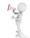 τρισδιάστατο άτομο που χρησιμοποιεί megaphone Στοκ Φωτογραφία