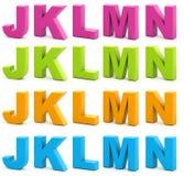 τρισδιάστατο αλφάβητο Στοκ Εικόνα