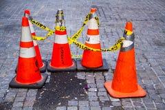 τρισδιάστατο ανασκόπησης λευκό κυκλοφορίας κώνων απομονωμένο εικόνα Στοκ φωτογραφία με δικαίωμα ελεύθερης χρήσης